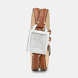 COACH TORI STAINLESS STEEL DOUBLE WRAP WATCH - BROWN - W1252