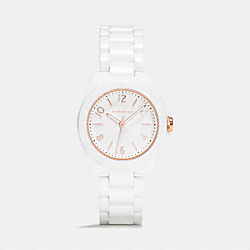 TRISTEN CERAMIC BRACELET WATCH - WHITE - COACH W1278