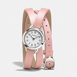 COACH DREE STAINLESS STEEL WRAP WATCH - PINK - W1287