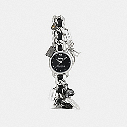 DELANCEY CHARM BRACELET WATCH, 23MM - STAINLESS STEEL - COACH W1293