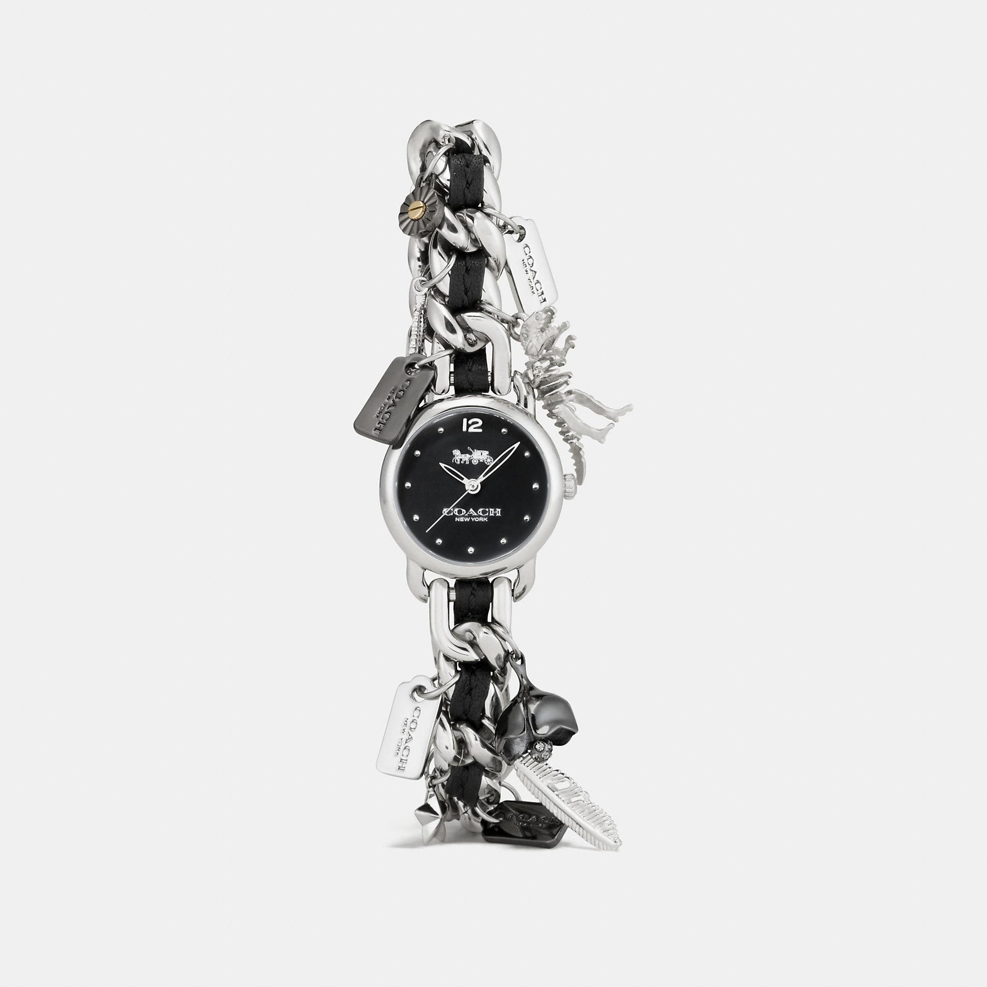 Coach Delancey Charm Bracelet Watch