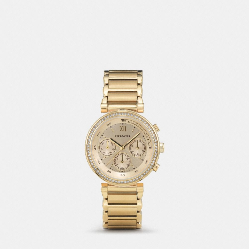 Coach 1941 Sport Gold Plated Bracelet Watch