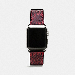 APPLE WATCH® STRAP IN SNAKESKIN - BORDEAUX - COACH W1322+BOR++WMN