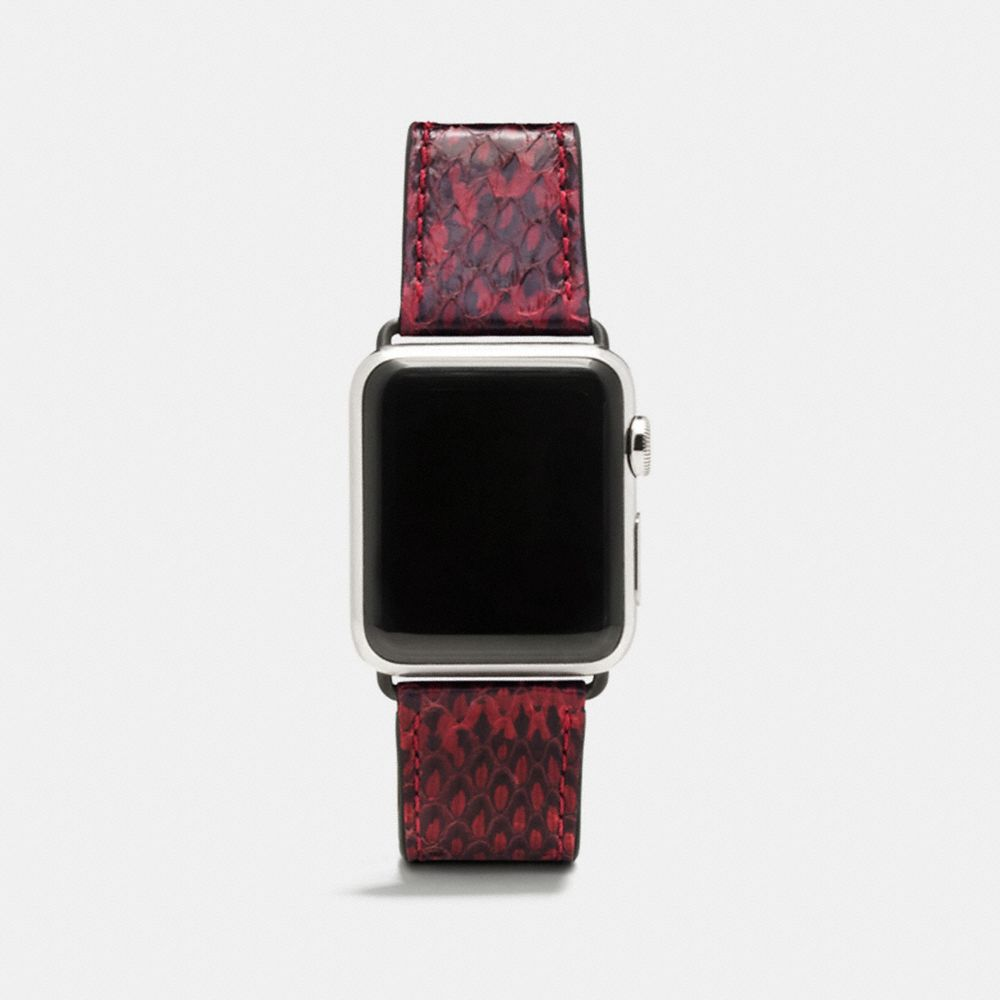 COACH APPLE WATCH STRAP IN SNAKESKIN