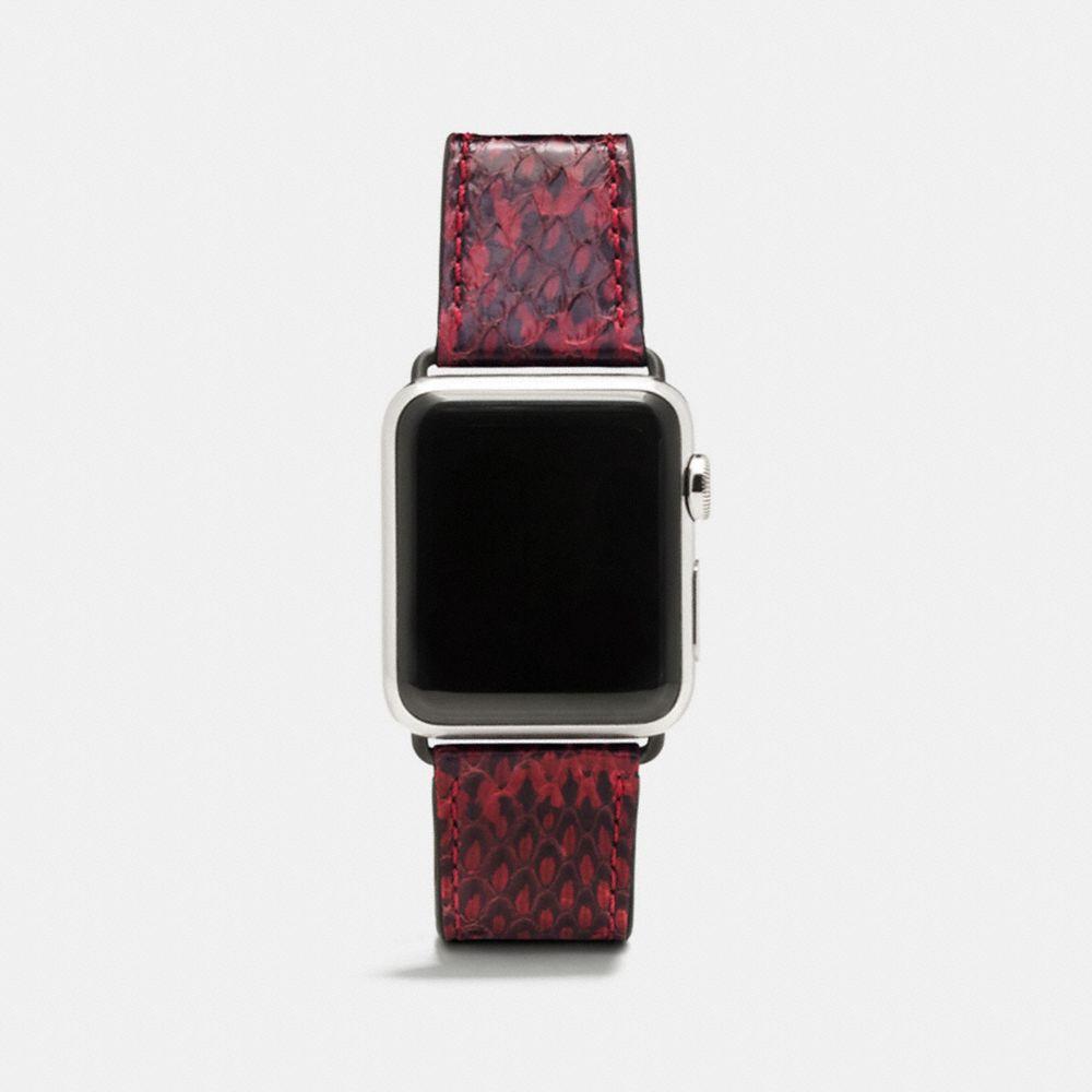 Coach Apple Watch® Strap in Snakeskin