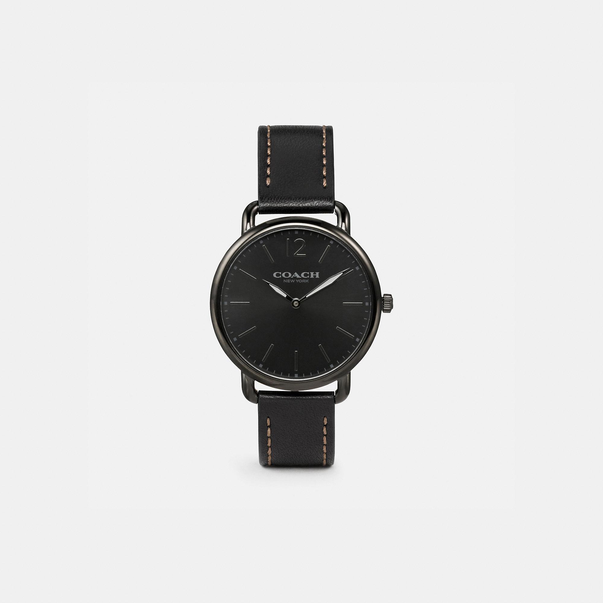 Coach Delancey Slim Leather Strap Watch