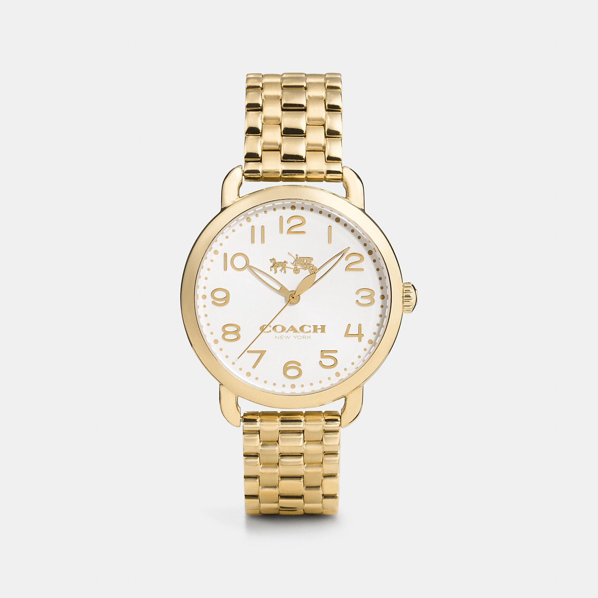 Coach Delancey Gold Plated Bracelet Watch