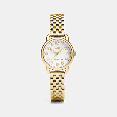 DELANCEY GOLD PLATED BRACELET WATCH