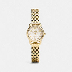 COACH DELANCEY SMALL GOLD PLATED BRACELET WATCH - GOLD PLATED - W1407