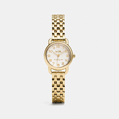 DELANCEY SMALL GOLD PLATED BRACELET WATCH