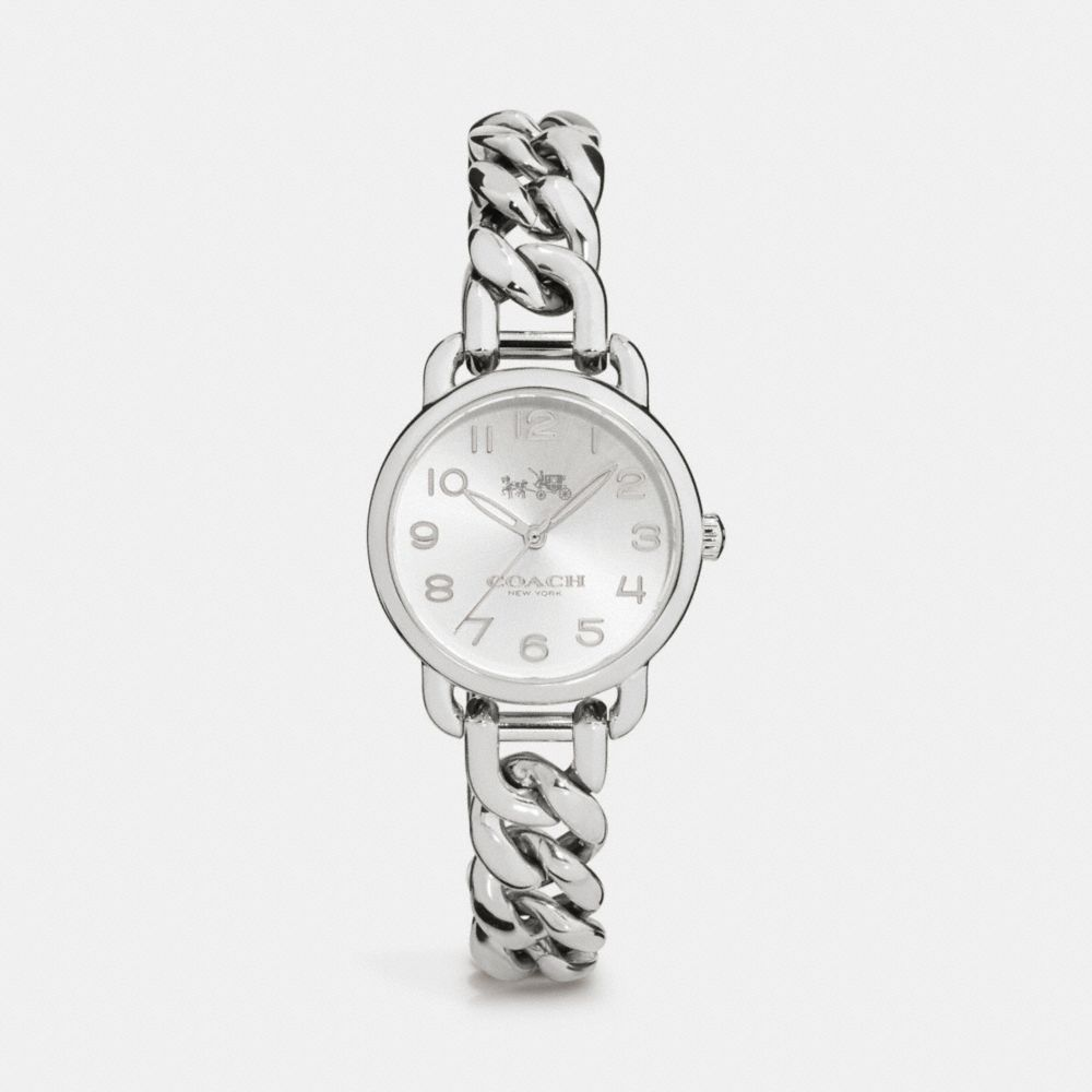 Coach Delancey 28mm Stainless Steel Chain Link Bracelet Watch