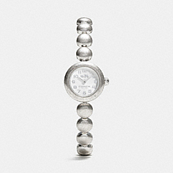 COACH RIVET STAINLESS STEEL TUMBLED STUD BRACELET WATCH - STERLING SILVER - W1438