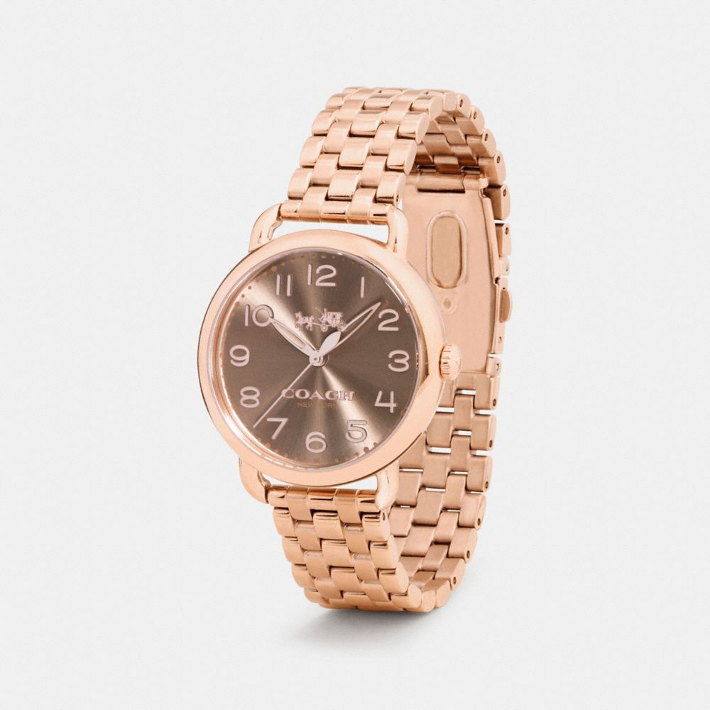 DELANCEY 36MM ROSE GOLD PLATED BRACELET WATCH - Alternate View