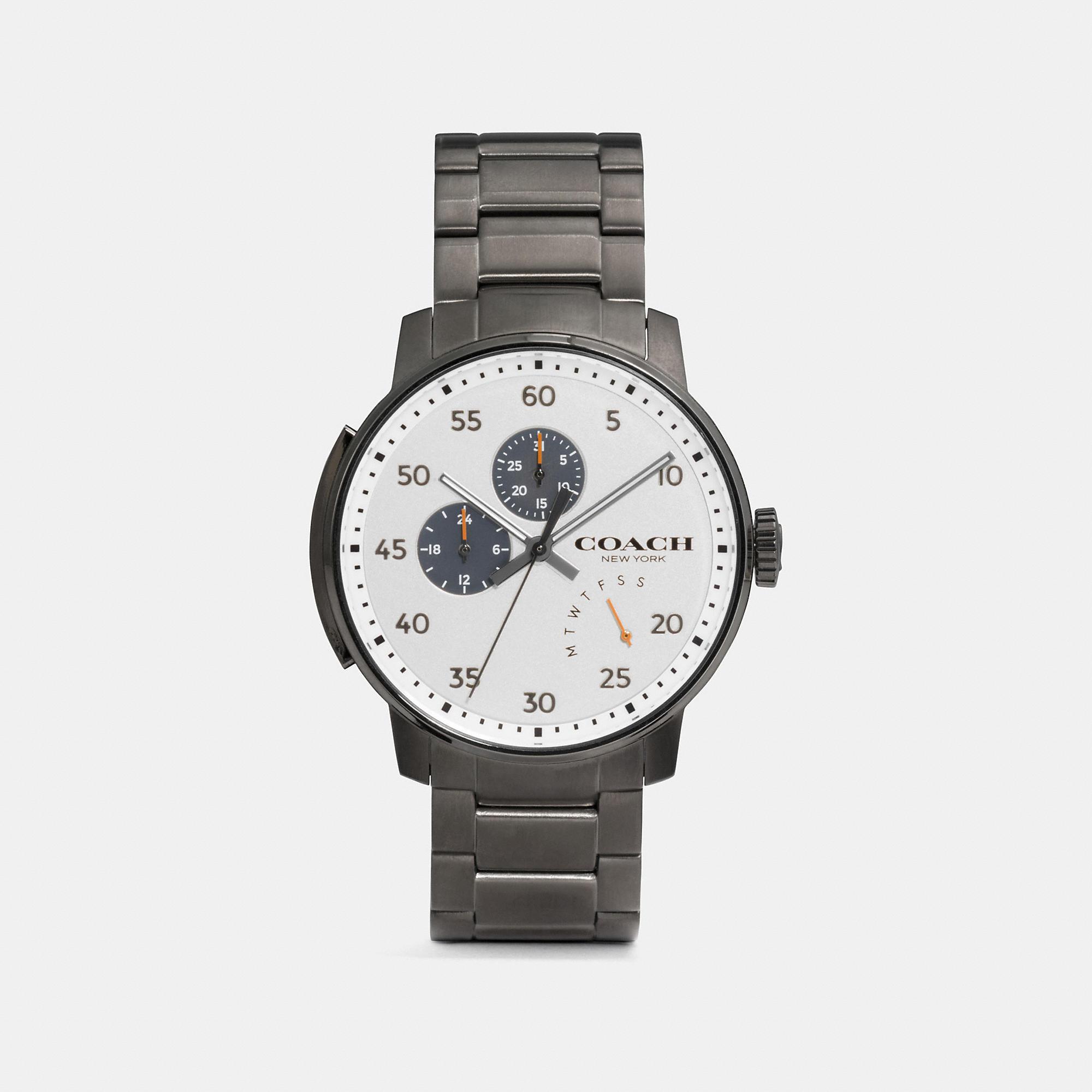 Coach Bleecker Ionized Plated Bracelet Watch