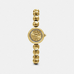 COACH RIVET GOLD PLATED STUDDED BRACELET WATCH - GOLD - W1459