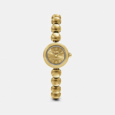 RIVET GOLD PLATED STUDDED BRACELET WATCH