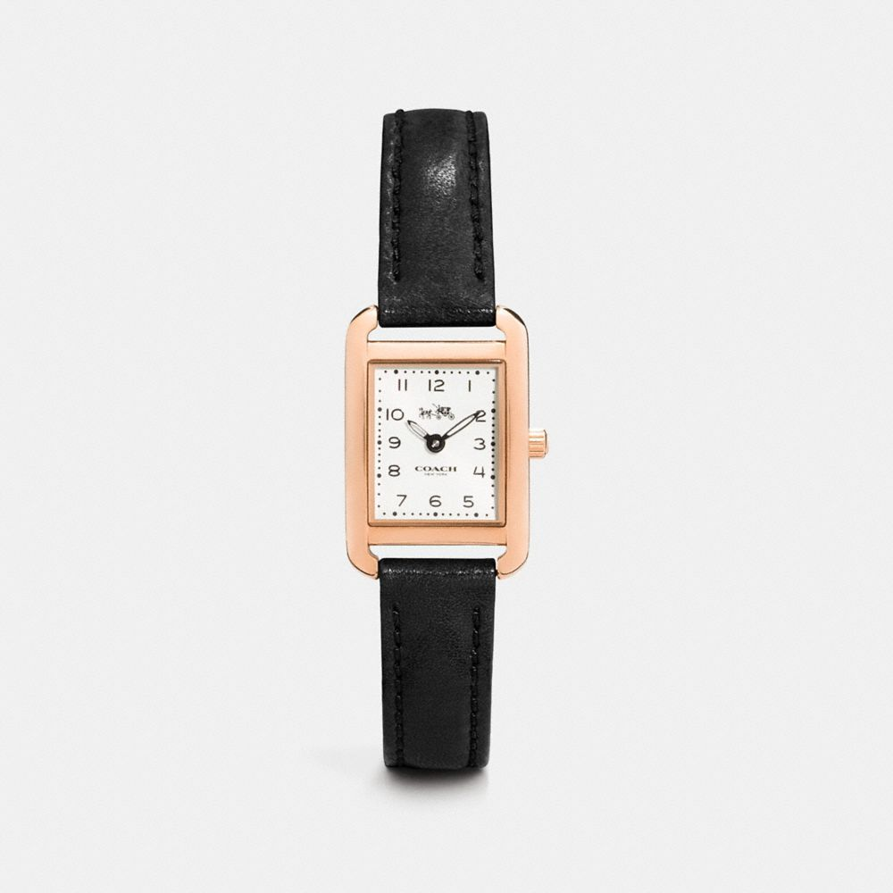 THOMPSON ROSE GOLD PLATED STRAP WATCH