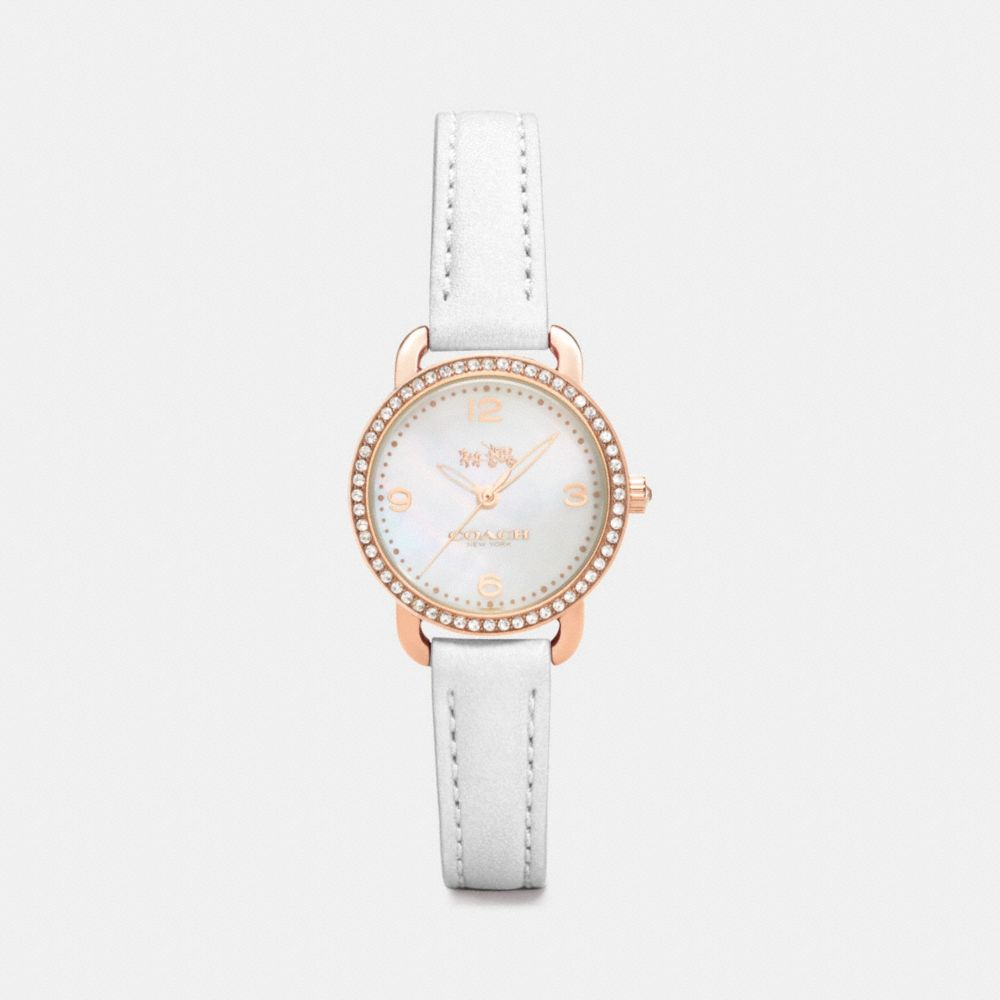 Delancey Rose Gold Plated Mother of Pearl Set Strap Watch