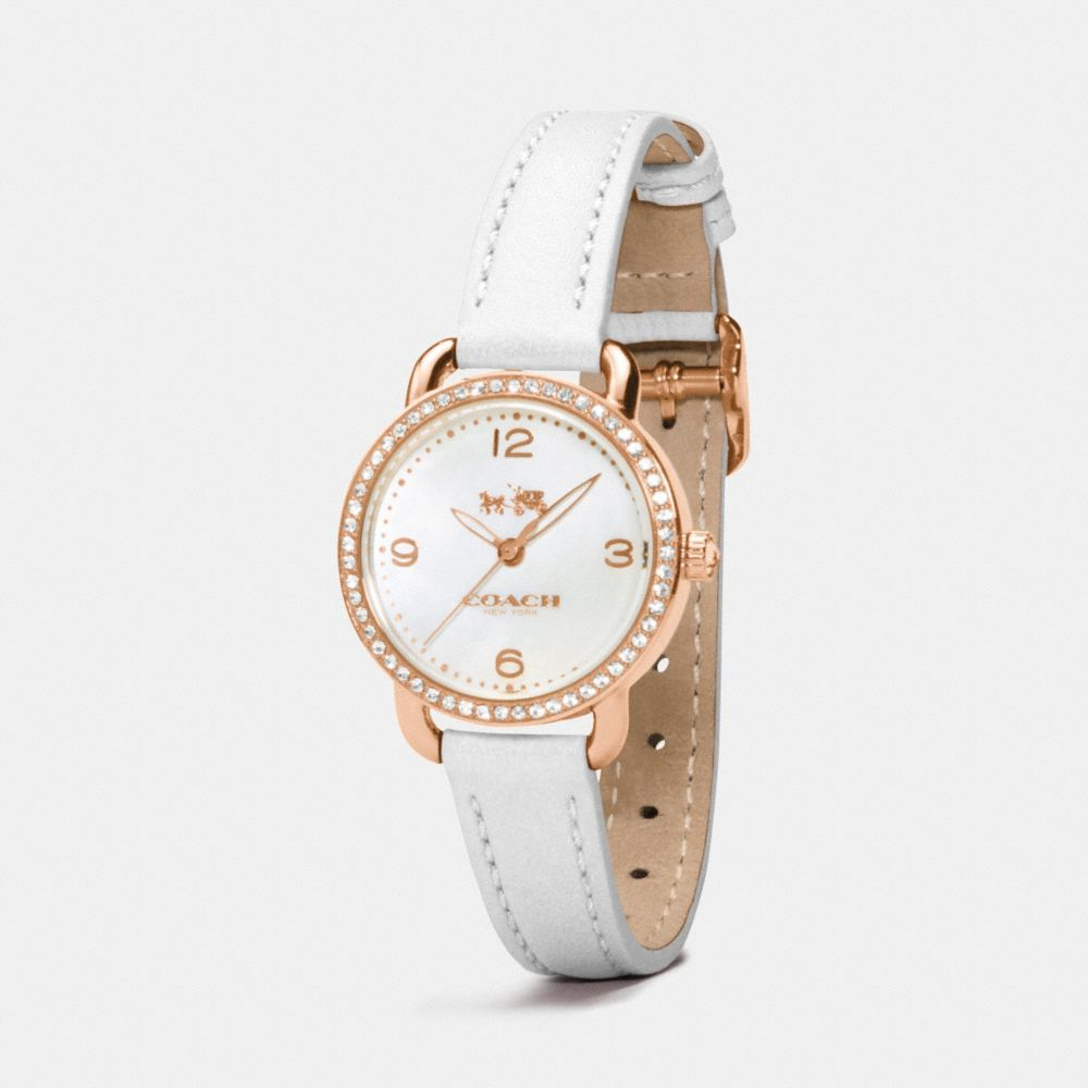 DELANCEY ROSE GOLD PLATED MOTHER OF PEARL SET STRAP WATCH - Alternate View