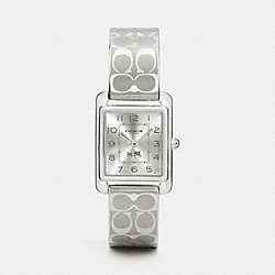 COACH PAGE STAINLESS STEEL BANGLE WATCH - SILVER - W1479