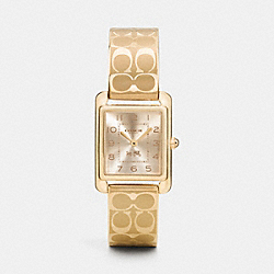COACH PAGE GOLD PLATED BANGLE WATCH - GOLD - W1480