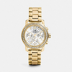 COACH LEGACY SPORT GOLD PLATED BRACELET WATCH - GOLD - W1483