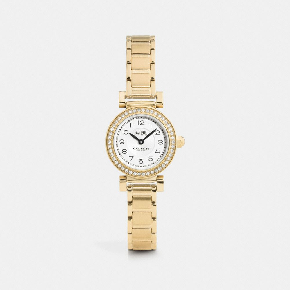 MADISON 23MM GOLD PLATED BRACELET WATCH