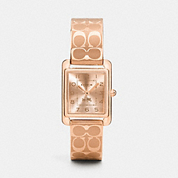COACH PAGE ROSE GOLD PLATED BANGLE WATCH - ROSEGOLD - W1495
