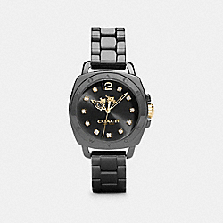 COACH BOYFRIEND 34MM CERAMIC BRACELET WATCH - BLACK - W1498
