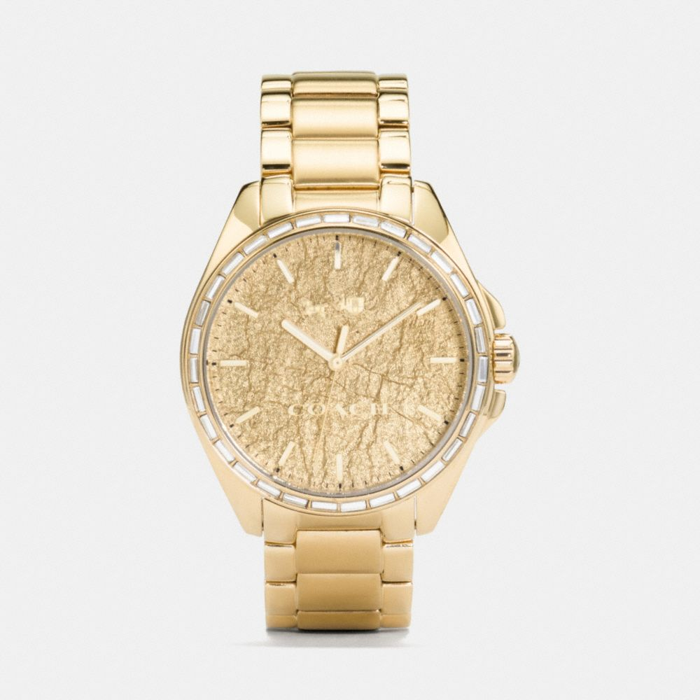 TRISTEN FOIL DIAL GOLD PLATED BRACELET WATCH - Alternate View