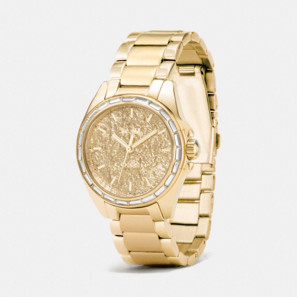 Tristen Foil Dial Gold Plated Bracelet Watch - Alternate View A1