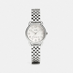 COACH DELANCEY STAINLESS STEEL BRACELET WATCH - STERLING SILVER - W1525
