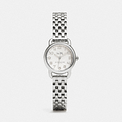 DELANCEY STAINLESS STEEL BRACELET WATCH - STERLING SILVER - COACH W1528