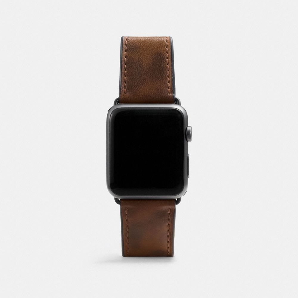 COACH APPLE WATCH STRAP WITH CAMO PRINT