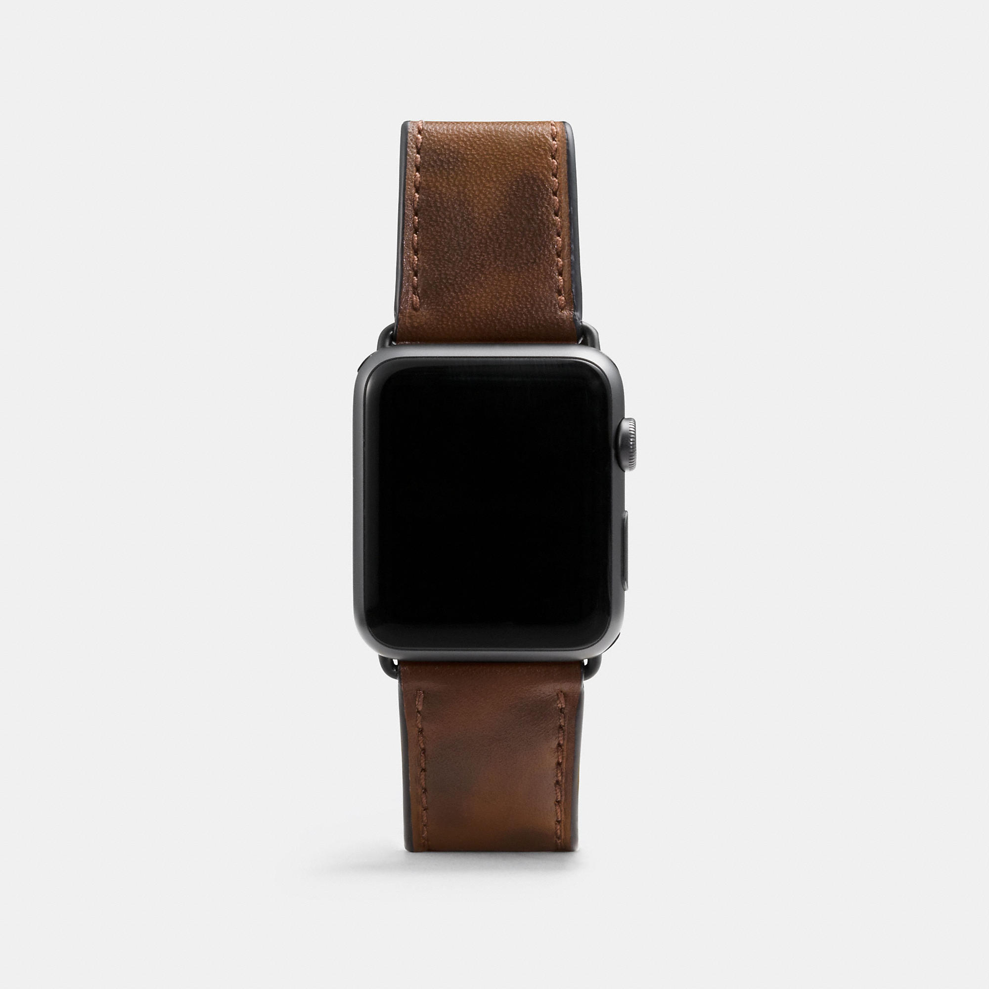 Coach Apple Watch Camo Leather Strap
