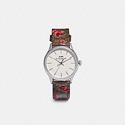RUBY WATCH, 32MM - KHAKI/PINK/SILVER - COACH W1546
