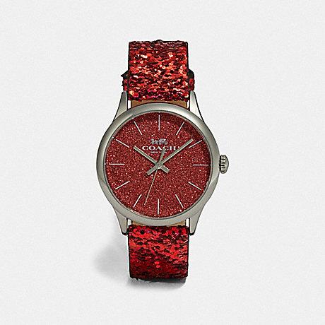 COACH RUBY WATCH, 32MM - RED GLITTER - W1549