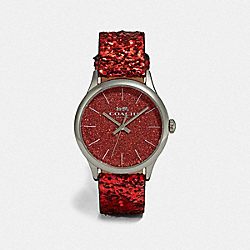 RUBY WATCH, 32MM - RED GLITTER - COACH W1549