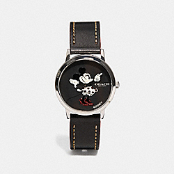 CHELSEA WATCH WITH MINNIE MOUSE, 32MM - BLACK - COACH W1556