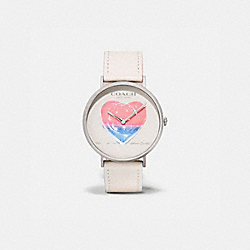 COACH X RICHARD BERNSTEIN CHARLES WATCH, 41MM - WHITE - COACH W1668