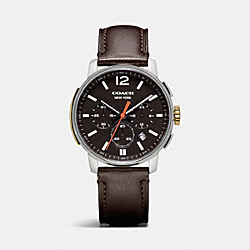 BLEECKER CHRONO STAINLESS STEEL STRAP WATCH - DARK BROWN - COACH W4001