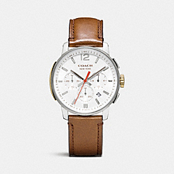 BLEECKER CHRONO STAINLESS STEEL STRAP WATCH - WHITE - COACH W4001