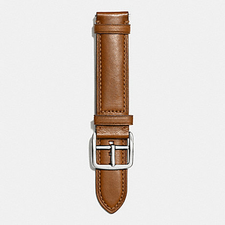 COACH BLEECKER LEATHER WATCH STRAP - FAWN - w4002