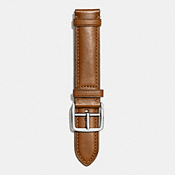 BLEECKER LEATHER WATCH STRAP - FAWN - COACH W4002
