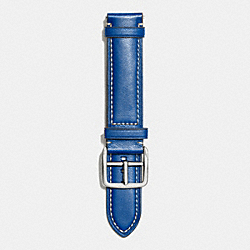 BLEECKER TEXTURED LEATHER STRAP - NAVY - COACH W4002