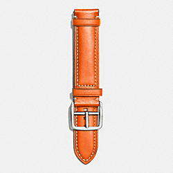 BLEECKER TEXTURED LEATHER STRAP - ORANGE - COACH W4002