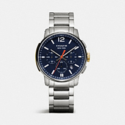 COACH BLEECKER CHRONO STAINLESS STEEL BRACELET WATCH - NAVY - W4006