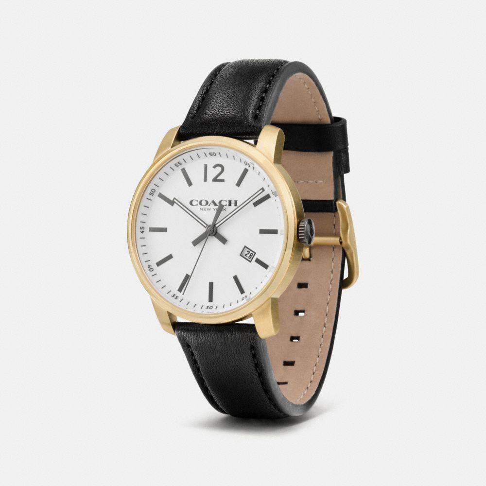 Bleecker Slim Gold Plated Strap Watch - Alternate View A1