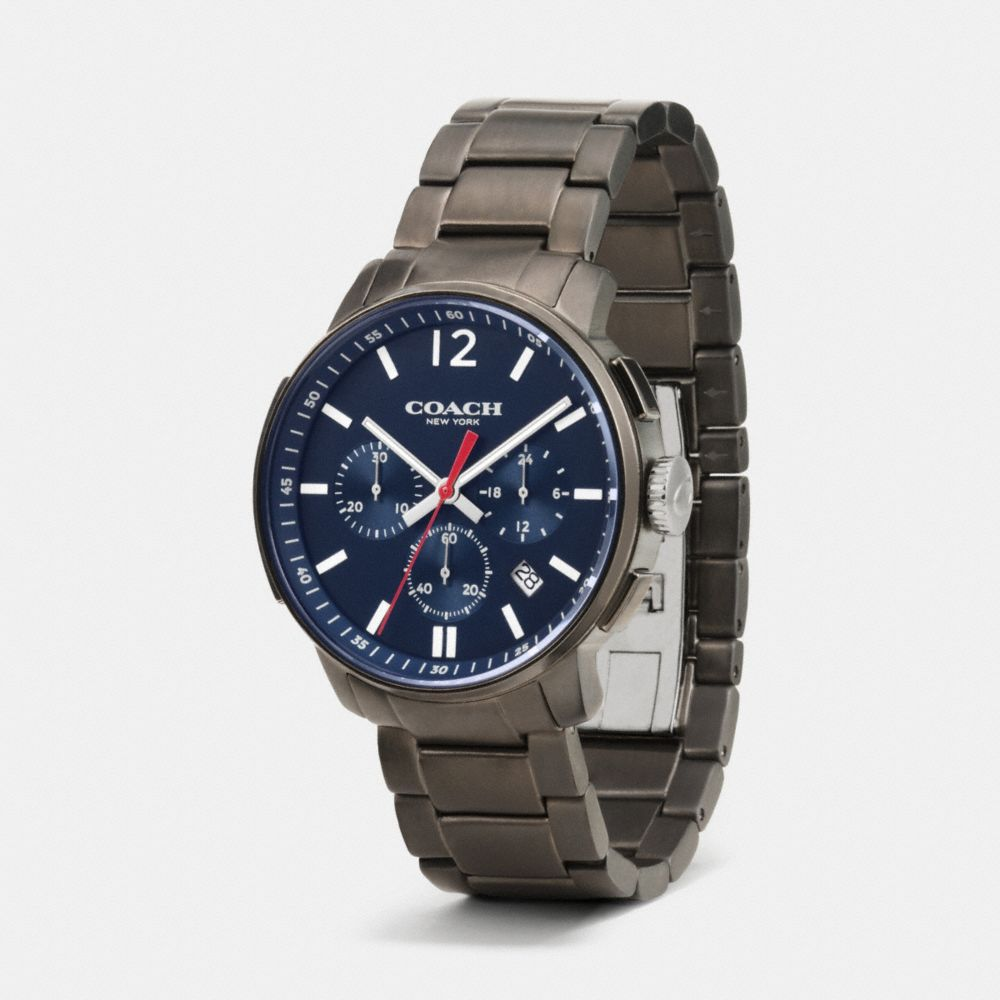 Bleecker Chrono Gunmetal Bracelet Watch - Alternate View A1