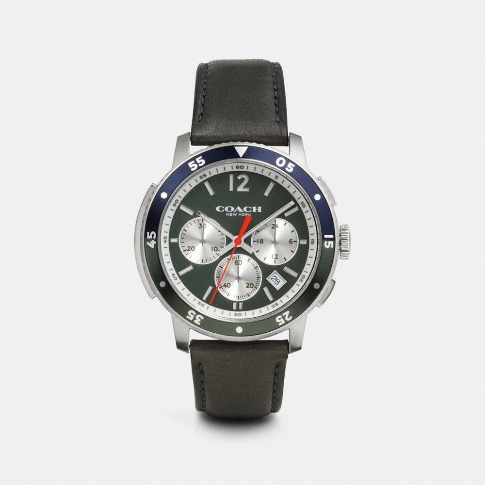 Bleecker Sport Stainless Steel Chrono Strap Watch